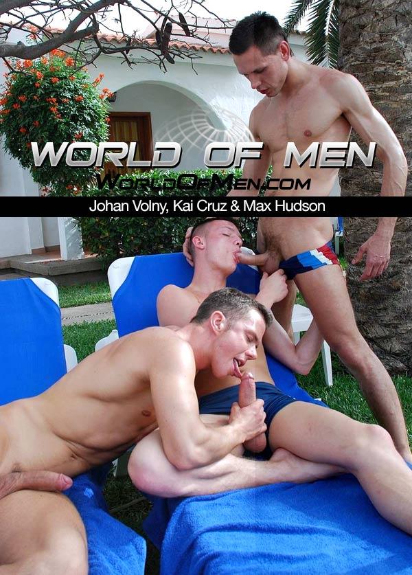 Johan Volny, Kai Cruz & Max Hudson at WorldOfMen.com