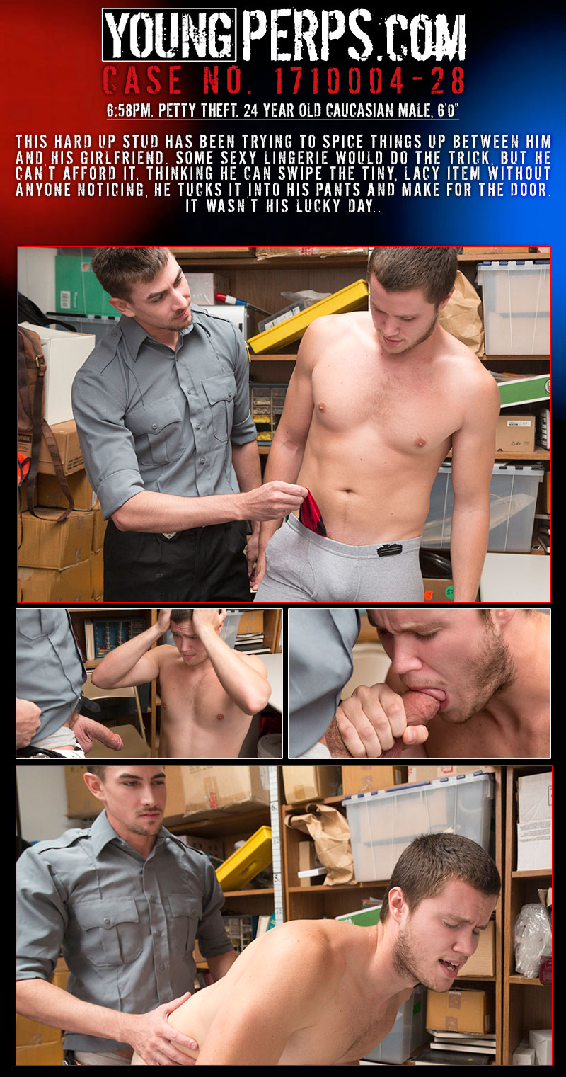 Petty Theft (Jack Hunter Interrogates and Fucks Damien Nichols) (Case # 1710004-28) at YoungPerps
